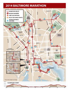 2014 Marathon Course map