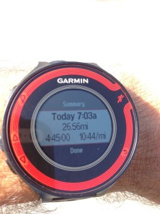 4:45 exact per my watch (official time was 4:44:58)