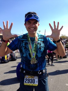 I'm celebrating finishing my 10th marathon (wow...I really said that!!!)