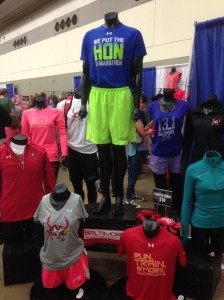 Under Armour were the official race gear providers