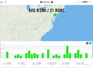 November 2014 – Nike+ Summary