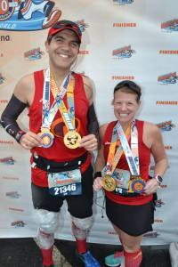 Here we are with both the Marathon and Goofy Challenge medals.