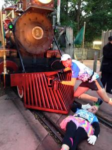 Stopping the train to save my damsel in distress