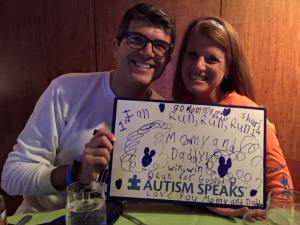 2015 Team Up Autism Speaks team dinner