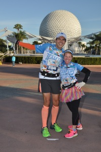 Back in EPCOT with the finish line in reach