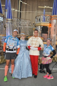 With Cinderella and Prince Charming (note that Cinderella was bundled up with a warm coat)