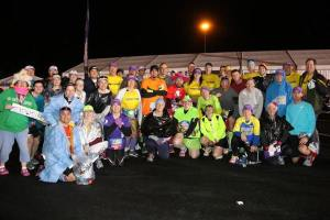 Mickey Milers meet up before the half marathon