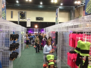 Expo was spaciously laid out and not too crowded