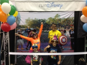 A quick family stop at the expo for some Goofy fun