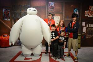 With Baymax and Hiro
