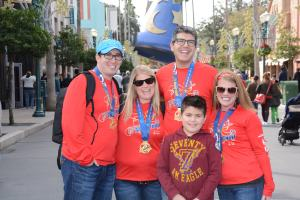 Celebrating our half marathon in Hollywood Studios