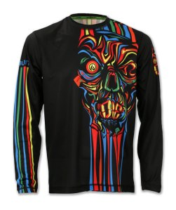 Men's Long Sleeve 'Run or Die' striped shirt