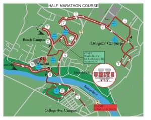 2015 Rutgers UNITE Half Marathon Course