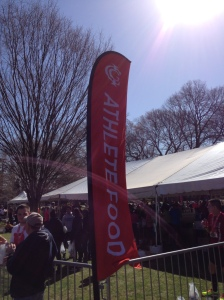 Food station marked for runners