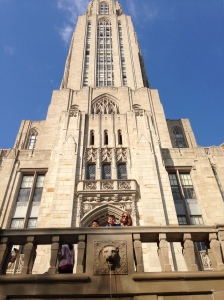 The future students outside the Cathedral of Learning