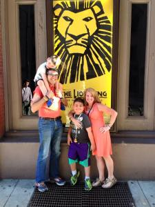 Enjoying the Lion King touring production in Philadelphia