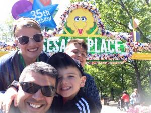 Celebrating at Sesame Place