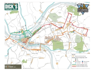 Pittsburgh Marathon course map