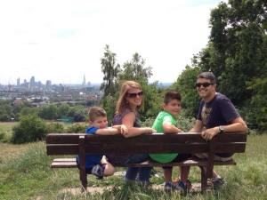 Took the boys to Parliament Hill in London to show them where we got engaged.