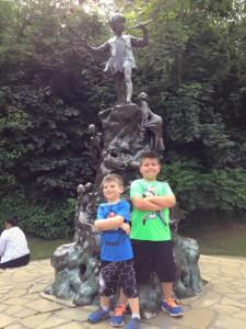 At the Peter Pan statue in Kensington Gardens