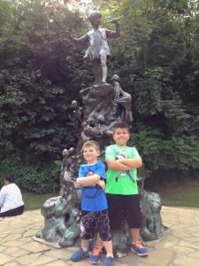 At the Peter Pan statue in Kensington Gardens
