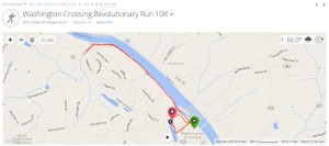 10K course along the Delaware River (Pennsylvania side)