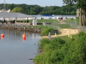 Swim entry point