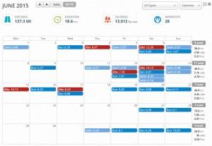 June – Map My Fitness Summary