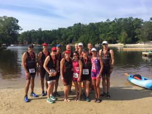 Members of the Bucks County Triathlon Club