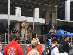 The amazing band of Marines
