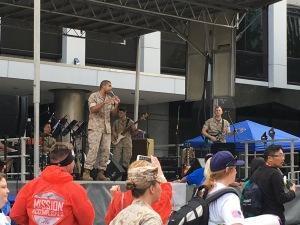 The amazing band of Marines