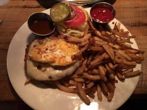 My celebratory veggie burger