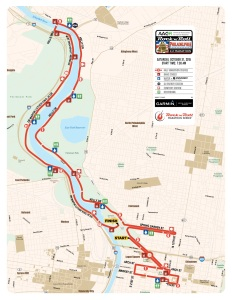 Course map for the Half Marathon