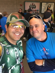 With fellow Mickey Miler Matt before the race