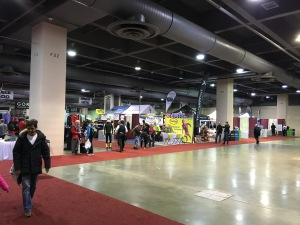 Expo hall was not crowded when I visited.