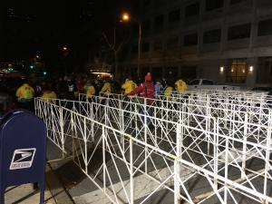 I'd learned from the Marine Corps Marathon and made sure I was there early enough to make it through before the big crowds.