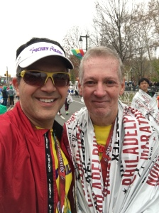 Dave and I together at the finish line.