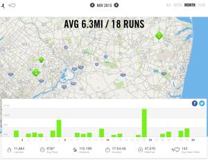 November 2015 – Nike+ Summary