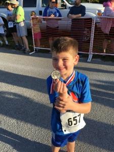 Reward for his 200 meter run
