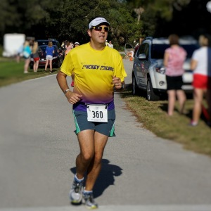 Being out-sprinted by my wife