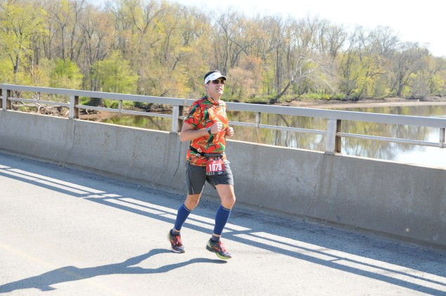 On my way to a new Half Marathon PR at the Rutgers UNITE Half Marathon.