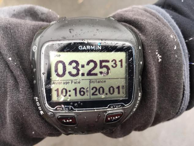 My last long run took place under less than perfect conditions.
