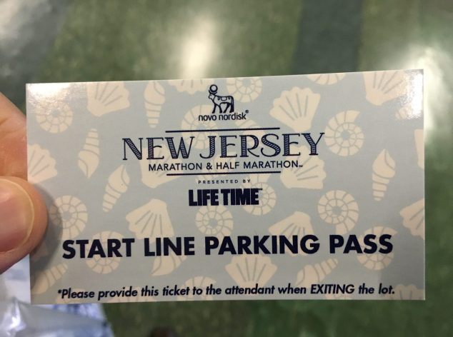 I prepaid for parking at the start line so I was set for race day