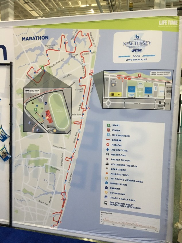 The course map that was displayed at the expo