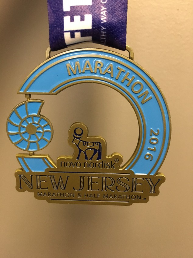 The marathon finisher medal