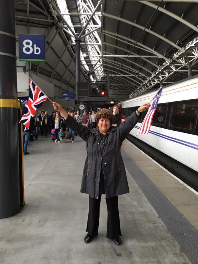 Welcomed off the train by my Mother in a totally non-embarrassing way