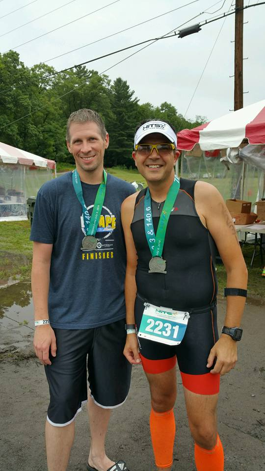 With my friend Bob at the finish line