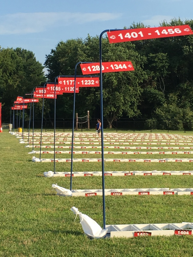 This is the biggest triathlon held in New Jersey so there were lots of spaces to fill