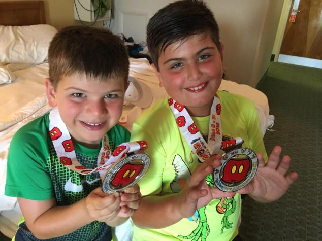 With their Mickey Shorts medals