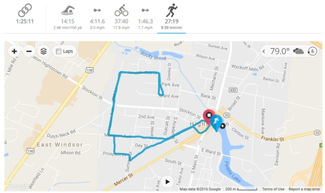 The run was the final leg of the race